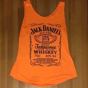 Jack Daniel's Tennessee whiskey orange tank top